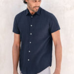 Moln linen shirt midnight navy