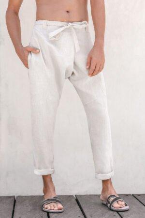 Shaba urban zen linen pants natural
