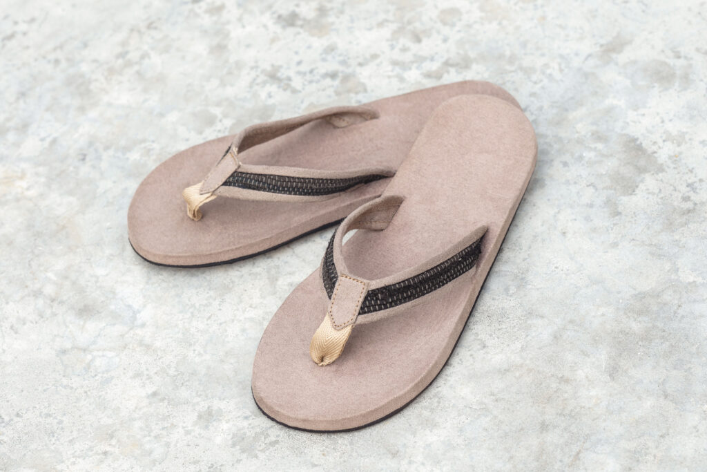 Handwoven natural dye sandals