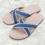 Handwoven natural dye sandals CROSS