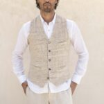 Nuvem artisanal fabric cotton vest